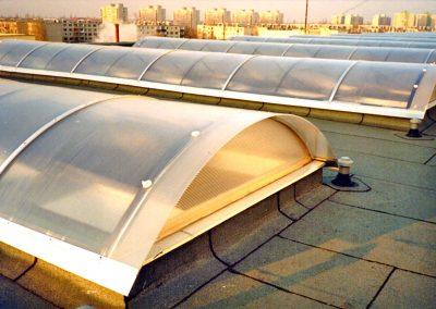 Polikarbonát tető-felülvilágítók, Kecskemét